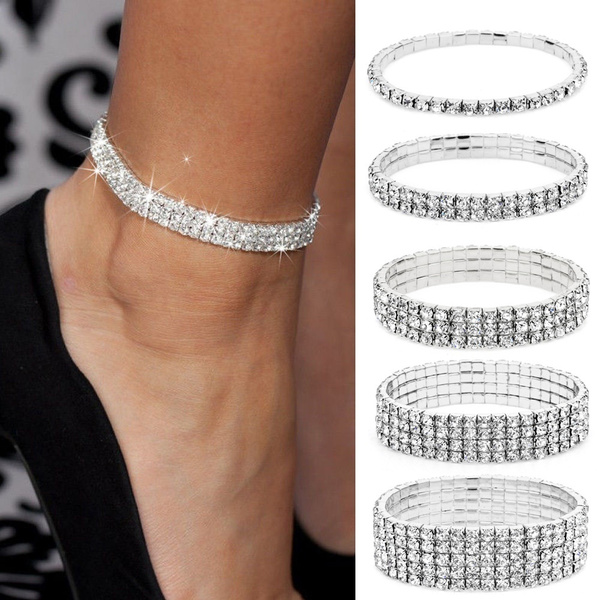 fineanklet, DIAMOND, ankletsforwomen, Jewelry