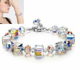 Charm Bracelet, elegantbracelet, DIAMOND, 10ktwhitegold