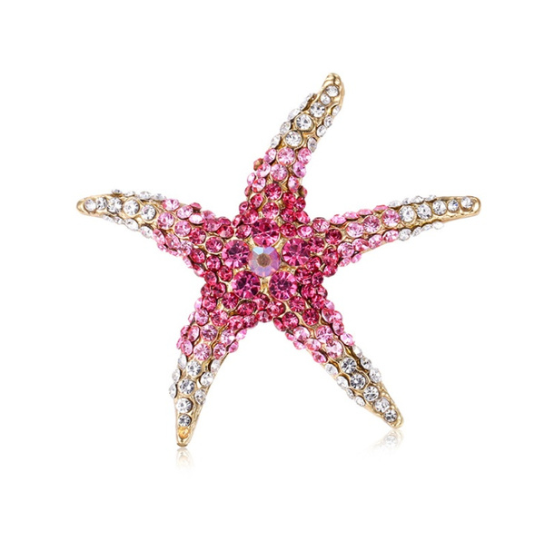 Clothing & Accessories, fashionbrooch, starfishbrooch, Jewelry