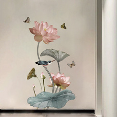 butterfly, Decor, Flowers, art