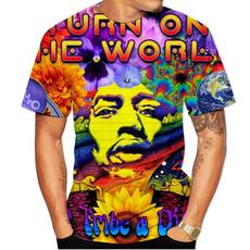 hippiemusiciantshirt, shortsleevestshirt, 3dmentshirt, hippie