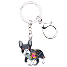 frenchbulldogkeychain, frenchbulldogjewelry, keychainsforwomen, Rhinestone