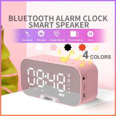 pink, black, led, Clock