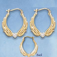 Sterling, 14kgoldearring, DIAMOND, gold