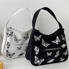 butterflyprint, Shoulder Bags, butterfly, underarmbag