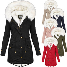 autumnwinter, warmjacket, fur coat, fur collar