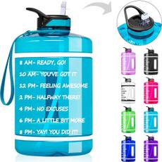 gymwaterbottle, waterbottlewithtimemarker, Turquoise, Outdoor