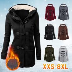 hoodedcoatsforwomen, Plus Size, hooded, Invierno
