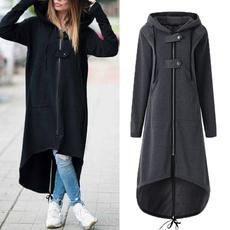 hooded, diphem, Sleeve, asymmetric