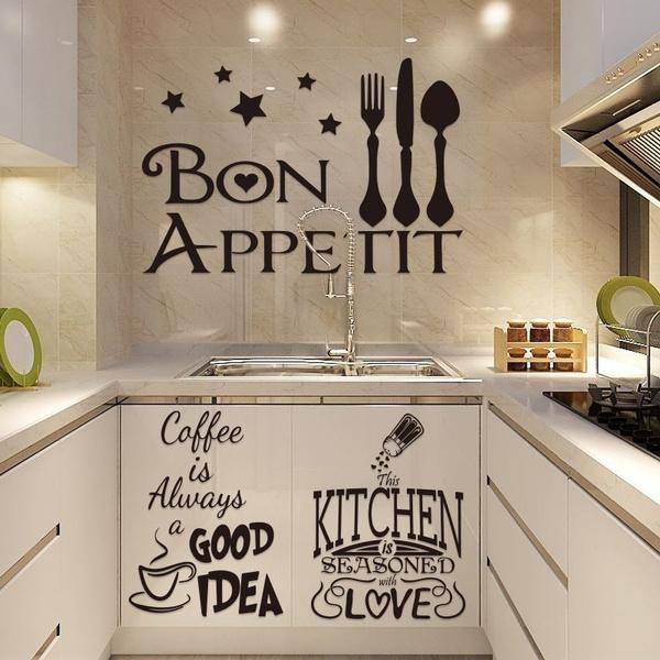 Modern, art, Stickers, kitchenwallsticker