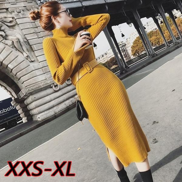 slim dress, Fashion, Knitting, Winter