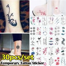 tattoosampsticker, tattoo, Flowers, art