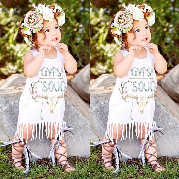 Summer, Tassels, sleeve dress, Sleeve