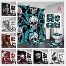 doormat, Bathroom, Door, skull