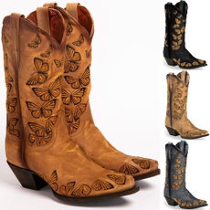 butterfly, Plus Size, Leather Boots, Medieval