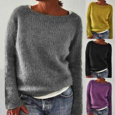Round neck, Fashion, Winter, Sleeve