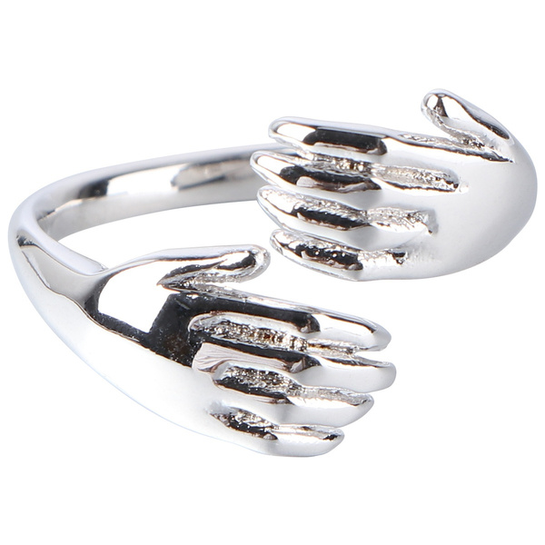 Couple Rings, Jewelry, Gifts, hugshapedring