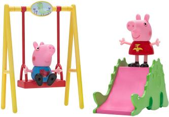 peppa, Dinosaur, Set, playtime