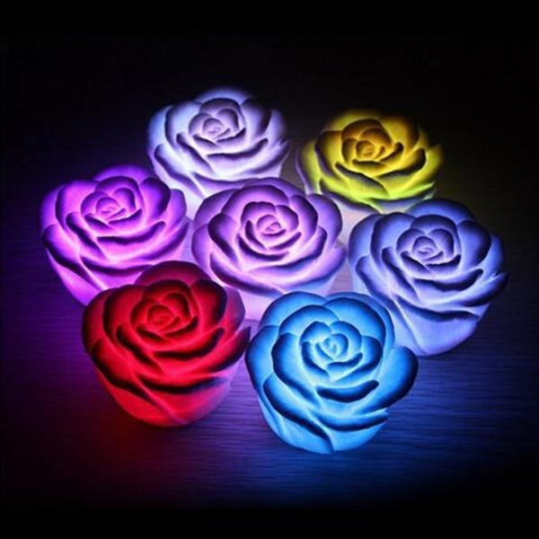 Design, Flowers, led, Romantic