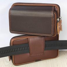 menswaistbag, leatherphonebag, Fashion, Capacity