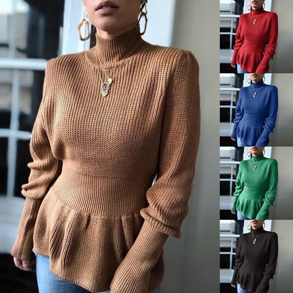 autumnwinter, Women Sweater, sweater dress, Waist