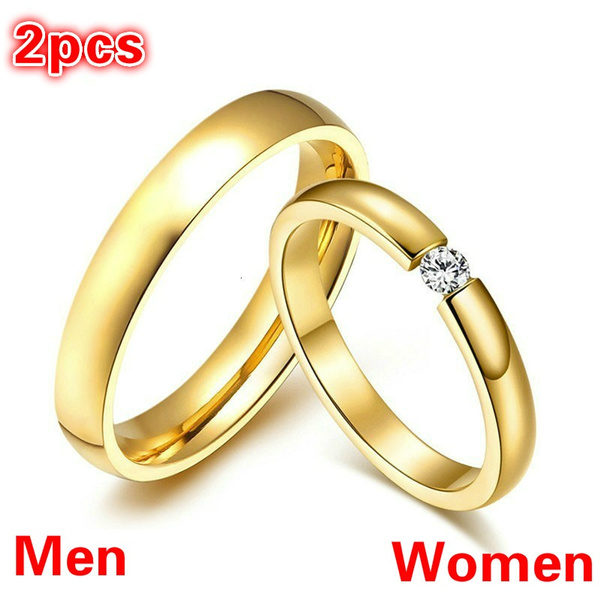 Couple Rings, ringsforcouple, DIAMOND, Stainless Steel