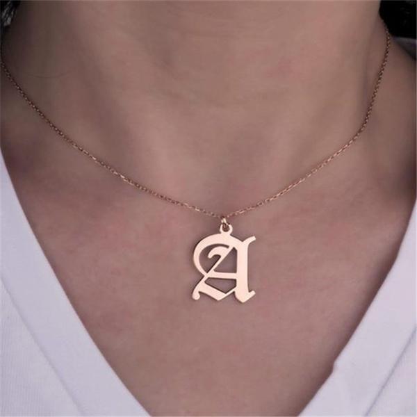 Vintage, Jewelry, letternecklacesforwomen, letternecklace