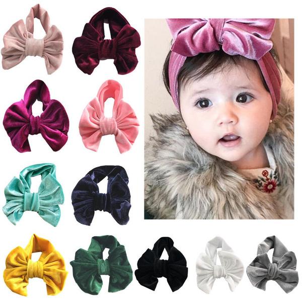 bowknot, Baby Girl, velvetheadband, velvet
