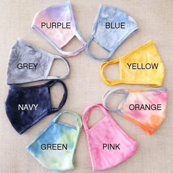 tiedyefacemask, mouthmuffle, unisex, washablemask