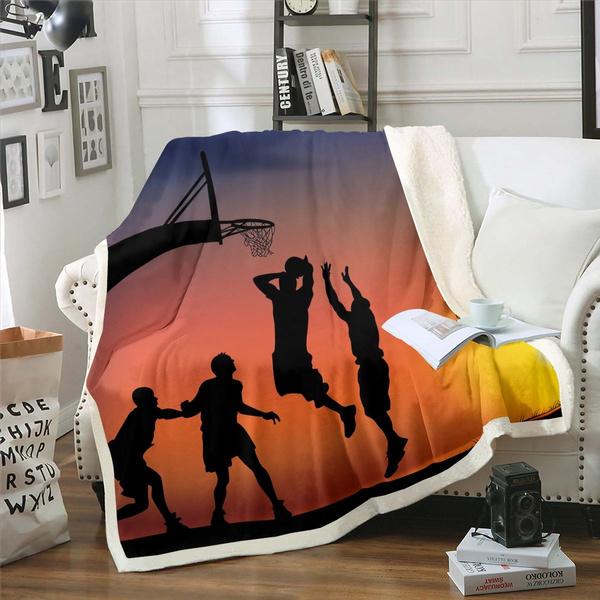 Fleece, Basketball, silhouette, Home Decor