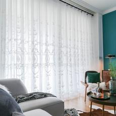 curtaindrapesvalance, voilecurtainforlivingroom, Door, Embroidery
