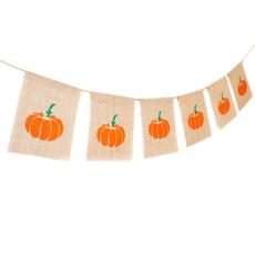 buntingdecoration, Home & Kitchen, Decor, pumpkinshape