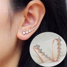 Hoop Earring, earcuffshoop, Crystal Jewelry, ear studs