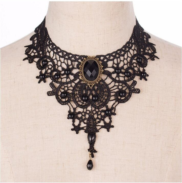 Goth, Fashion, Lace, Chain