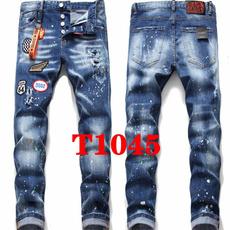 jeansformen, ripped, slim, straightjean