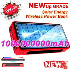Battery Pack, Solar, Powerbank, Wireless charger
