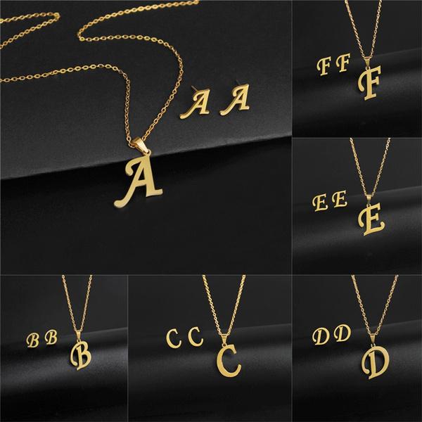 Fashion, letterearring, letternecklace, letterpendant