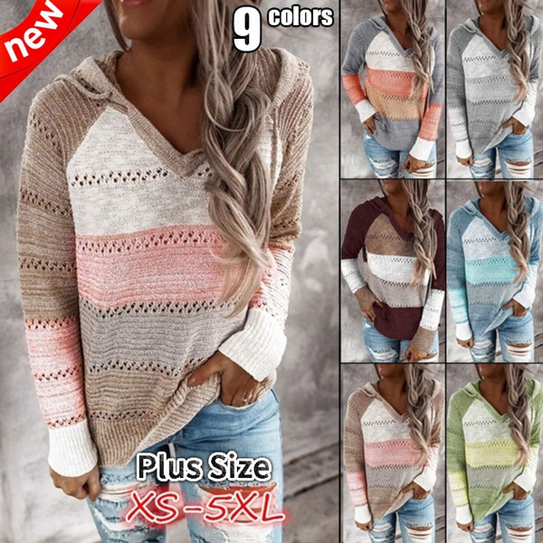stitchingcolorsweater, Fashion, pullover sweater, Long Sleeve