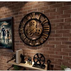 Decoración de hogar, romanwallclock, walldecoration, Vintage