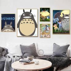 My neighbor totoro, canvasart, hizaomiyazaki, Wall Art