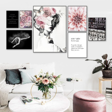 canvasart, Flowers, living room, Home Decor