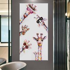 Family, art, canvaspainting, giraffewatercolorpainting