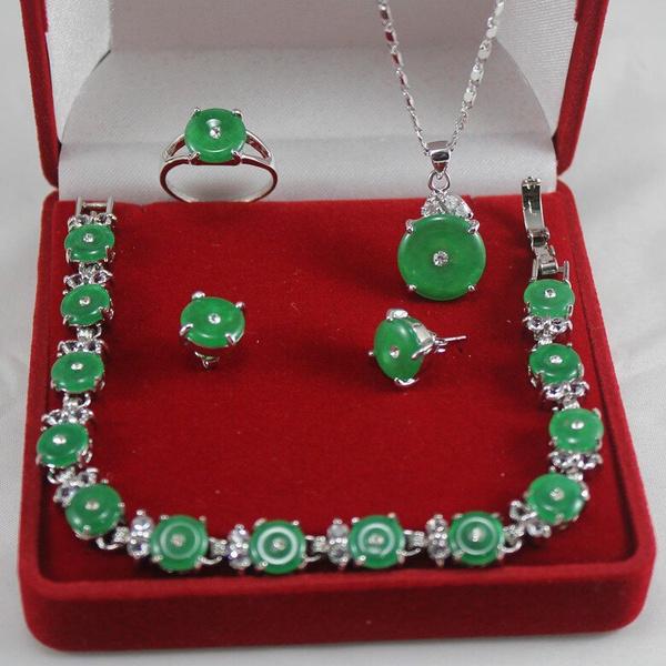 Set, Jewelry, jade, Bracelet