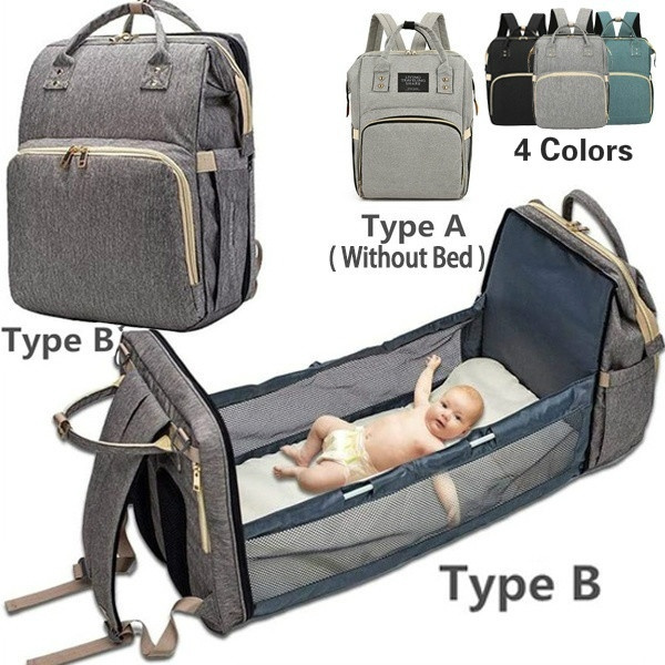 Portable Diaper Bag Bassinet For Baby Multifunctional Portable Folding Crib Mommy Bag Diaper Bag Bed Multi Purpose Travel Storage Bag Wish