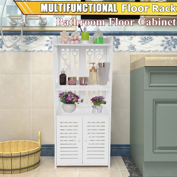 Small Bathroom Storage Corner Floor Cabinet With Doors And Shelves Thin Toilet Vanity Cabinet Towel Storage Shelf For Paper Holder Wish
