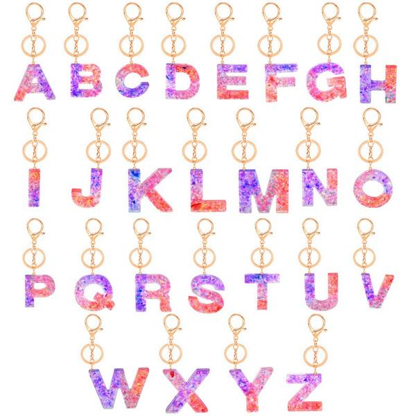 keychainsletter, acrylickeychainpendant, Key Chain, keychainacrylic