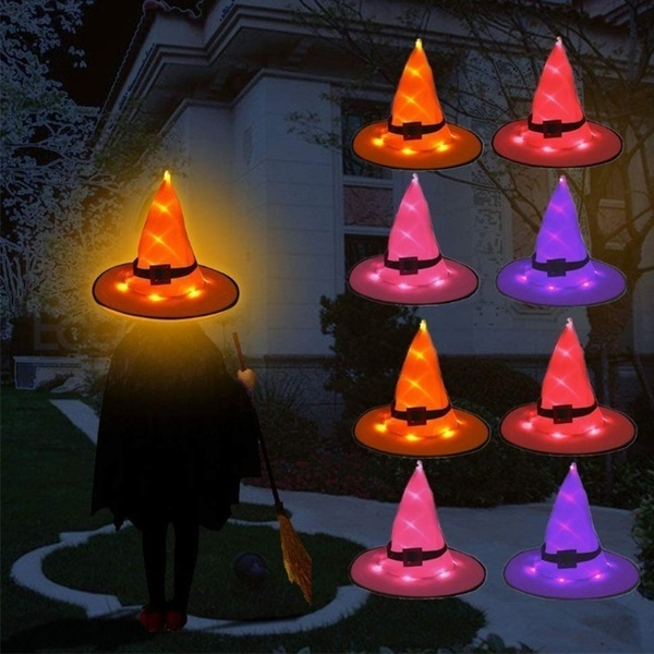 ledhat, halloweenlighthat, halloweenhat, hanginghat