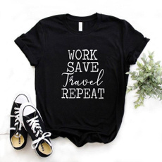 Funny, repeat, Shirt, Travel