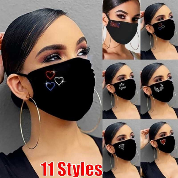 Heart, Bling, mouthmask, Jewelry
