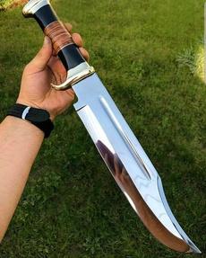 Steel, handmadeknife, damascusknife, leather